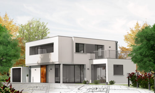 Projet de construction de maison d'architecte